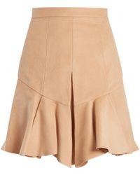 Isabel Marant - Parma Pleated Faux-suede Skirt - Lyst