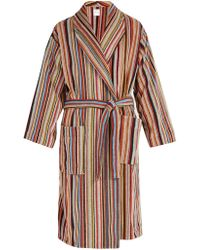 Paul Smith - Striped Cotton Bathrobe - Lyst
