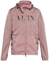 Valentino - Vltn Print Windbreaker Jacket - Lyst