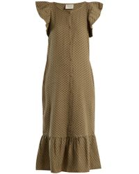 Cecilie Copenhagen - Jehro Scarf-jacquard Cotton Dress - Lyst