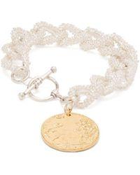 Alighieri - La Collisione Gold Plated Coin Bracelet - Lyst