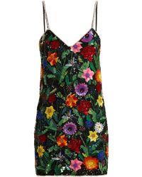 Ashish - Magic Flower Embellished Silk-georgette Mini Dress - Lyst