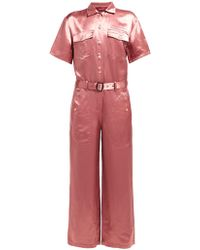 Sies Marjan - Washed Satin Buttoned Down Jumpsuit - Lyst