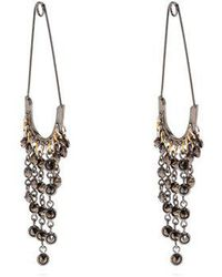 Sonia Rykiel - Safety-pin Drop Earrings - Lyst
