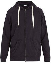 FRAME - Zip-through Hooded Cotton Sweatshirt - Lyst