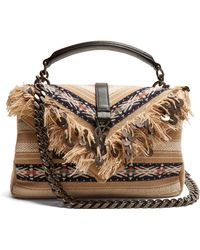 Saint Laurent - Collège Medium Fringed Cross-body Bag - Lyst