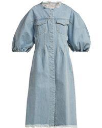 Marques'Almeida - Puff Sleeve Denim Dress - Lyst