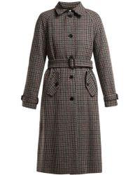 MASSCOB - Marcia Houndstooth Wool-blend Coat - Lyst