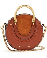 Chloé - Pixie Mini Leather And Suede Cross-body Bag - Lyst