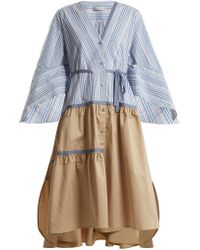 Palmer//Harding - Manon Striped Cotton-poplin Dress - Lyst