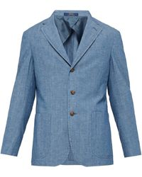 Polo Ralph Lauren - Single Breasted Cotton Chambray Blazer - Lyst