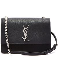 Saint Laurent - Sunset Small Leather Shoulder Bag - Lyst