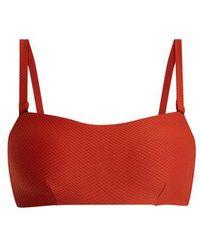 Beautiful Bottoms - Textured Bandeau Bikini Top - Lyst