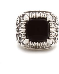 Emanuele Bicocchi | Onyx-embellished Sterling-silver Ring | Lyst