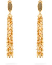 Sylvia Toledano - Leaves Gold-plated Clip-on Earrings - Lyst