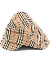 Burberry - Vintage Check Cotton Rain Hat - Lyst
