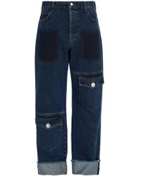JW Anderson - Button-fastening Flap-pocket Jeans - Lyst