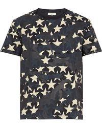 Valentino - Camustars-print Cotton T-shirt - Lyst