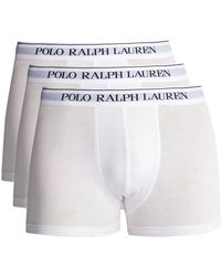 Polo Ralph Lauren - Set Of Three Logo-embroidered Briefs - Lyst