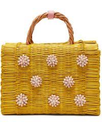 Heimat Atlantica - Celeste Seashell Embellished Basket Bag - Lyst