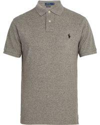 Polo Ralph Lauren - Logo-embroidered Cotton-piqué Polo Shirt - Lyst