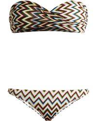 Missoni | Zigzag-knit Bandeau Bikini | Lyst