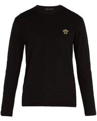 Versace - Medusa Long-sleeved Cotton T-shirt - Lyst