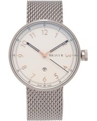 Bravur | Bw002 Stainless-steel And Leather Watch | Lyst