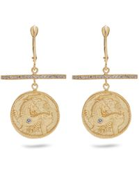 Azlee | Animal Kingdom Diamond & Yellow-gold Earrings | Lyst