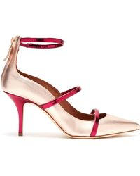 Malone Souliers - Robyn Metallic Leather Court Shoes - Lyst