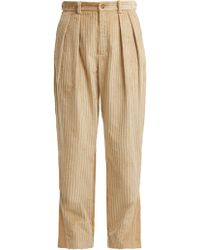 Koche - Panelled Cotton-corduroy And Twill Trousers - Lyst