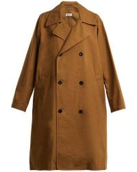 Chimala - Oversized Double-breasted Cotton Coat - Lyst