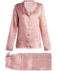 Derek Rose - Brindisi 26 Silk Pyjama Set - Lyst