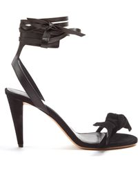 Isabel Marant | Akynn Wraparound Leather And Suede Sandals | Lyst