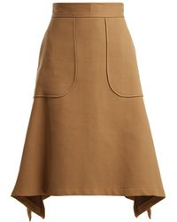 See By Chloé - City Cotton-blend Midi Skirt - Lyst