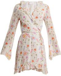 Athena Procopiou - Gold In The Air Of Summer Wrap Silk Dress - Lyst