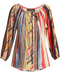 Vivienne Westwood Anglomania - Striped Crepe Blouse - Lyst