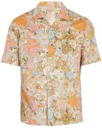 Burberry - Harley Floral-print Cotton Shirt - Lyst
