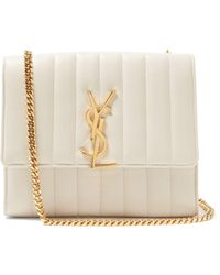 Saint Laurent - Vicky Quilted Leather Cross Body Bag - Lyst