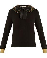Gucci - Sequin-embellished Cashmere-blend Knit Jumper - Lyst