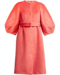 Delpozo - Single-breasted Wool Coat - Lyst