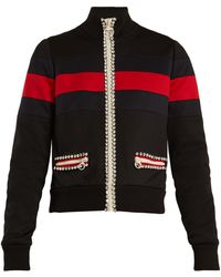 Gucci - High-neck Crystal-embellished Jersey Jacket - Lyst