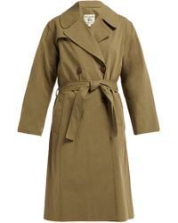 Nili Lotan - Benning Double Breasted Cotton Trench Coat - Lyst