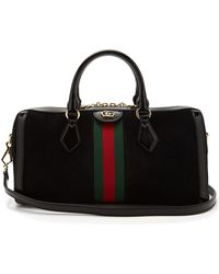 Gucci - Ophidia Boston Suede Bowling Bag - Lyst