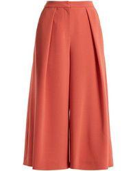 ROKSANDA - Deven Wide-leg Cropped Cady Trousers - Lyst