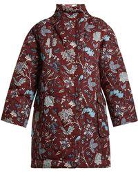 Diane von Furstenberg - Canton-print Stand-collar Shell Coat - Lyst