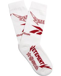Vetements | X Reebok Printed Socks With Cotton | Lyst
