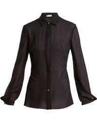 Lanvin - Sheer Silk Blend Shirt - Lyst