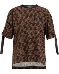 346934167c1b4 Fendi - Ff Motif T-shirt - Lyst