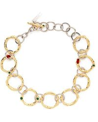 Marni - Crystal-embellished Chain-link Necklace - Lyst